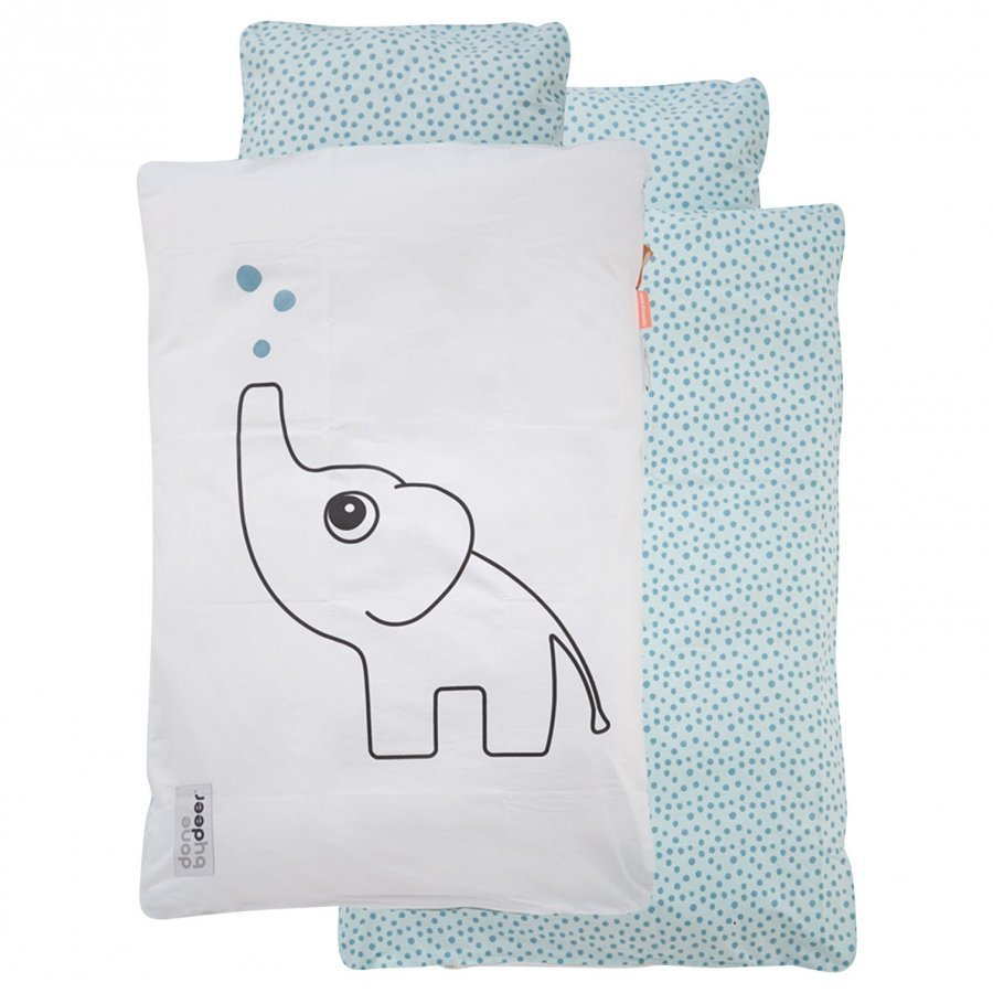 Done By Deer Dots Bedlinen Baby Blue Vuodesetti