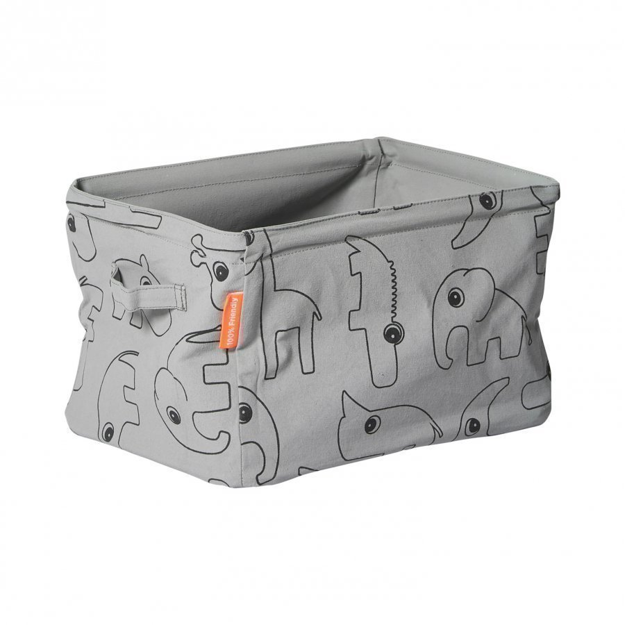 Done By Deer Double Sided Soft Storage Grey Säilytyskori