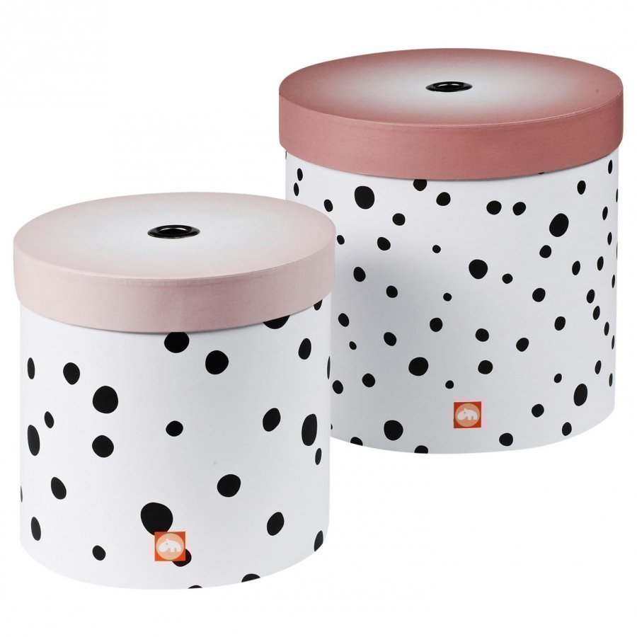 Done By Deer Happy Dots Round Box Set 2 Pieces Powder Säilytyslaatikko