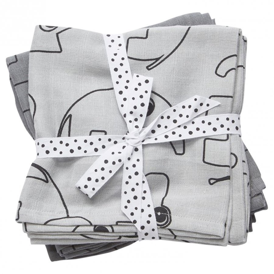 Done By Deer Swaddle 2-Pack Contour Grey Huopa