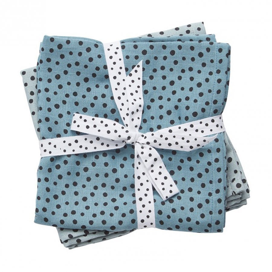 Done By Deer Swaddle 2-Pack Happy Dots Blue Huopa