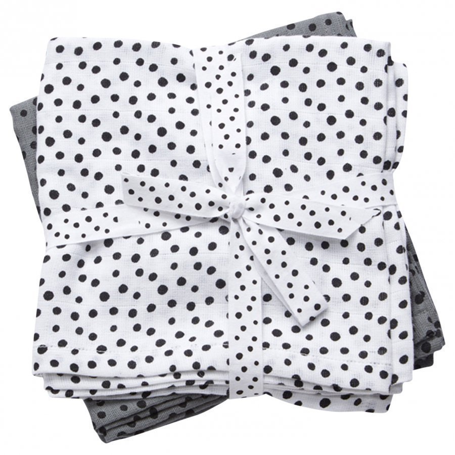 Done By Deer Swaddle 2-Pack Happy Dots Grey Huopa