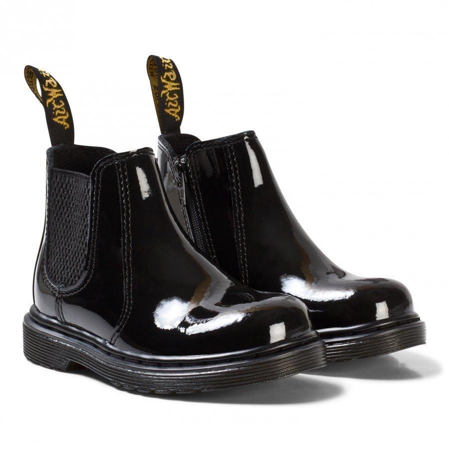Dr. Martens Black Patent Lamper Banzai Boots Nilkkurit