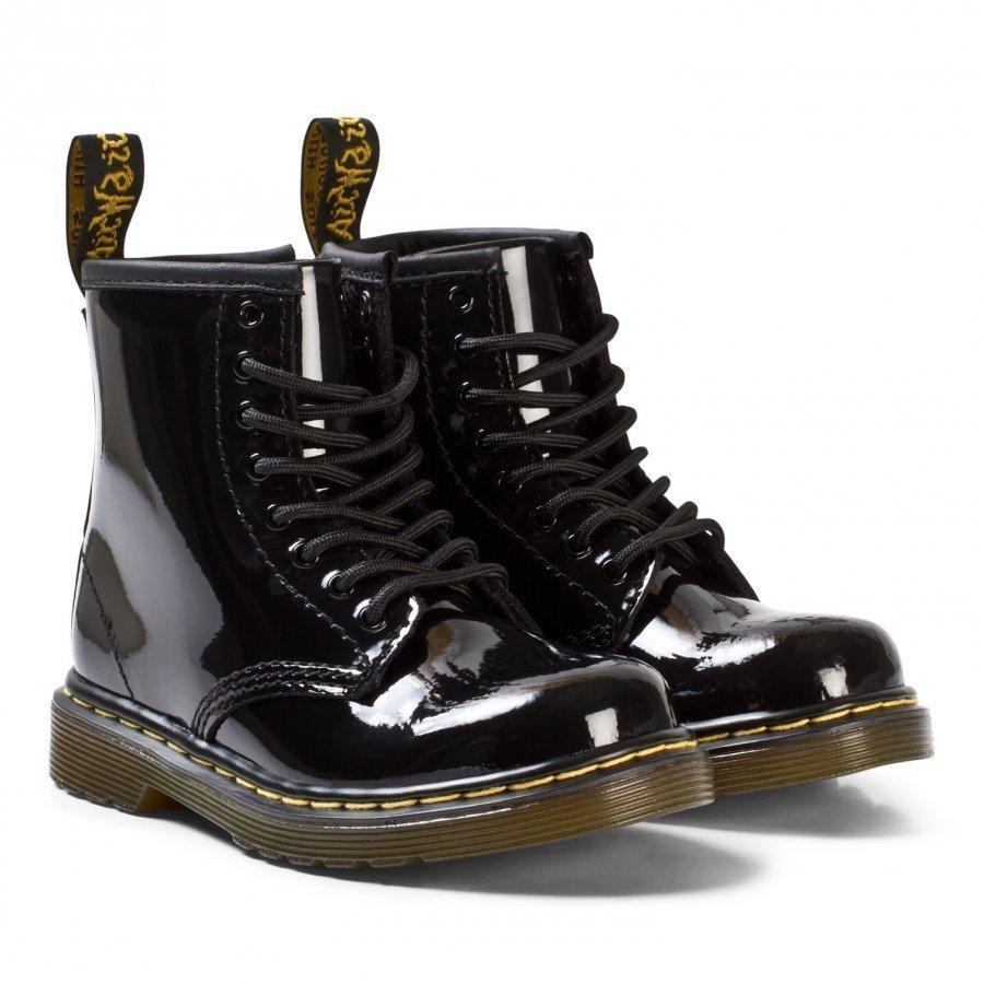 Dr. Martens Black Patent Lamper Brooklee/Delaney Boots Nilkkurit