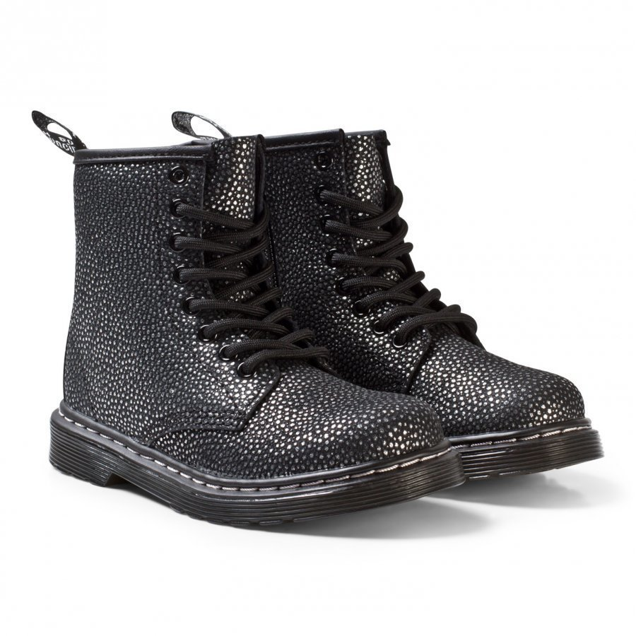 Dr. Martens Black/Silver Pebble Delaney Metallic Boots Nilkkurit