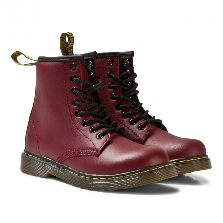 Dr. Martens Cherry Red Junior Delaney Leather Boots Nilkkurit