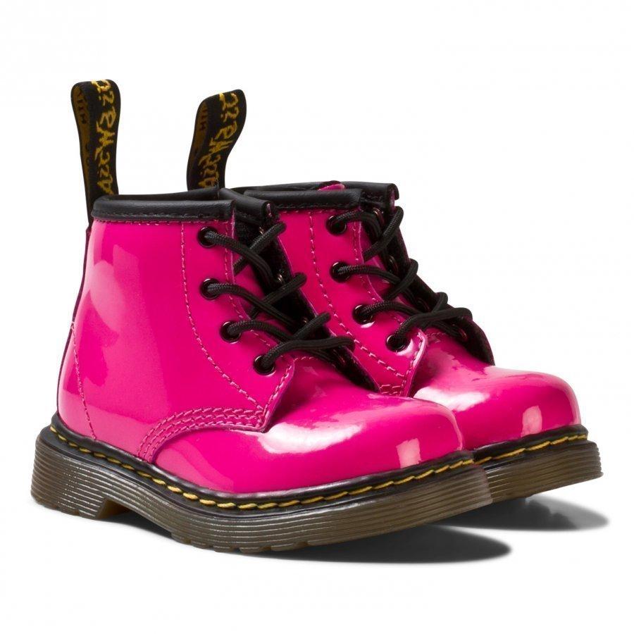 Dr. Martens Pink Infant Brooklee B Patent Boots Nilkkurit