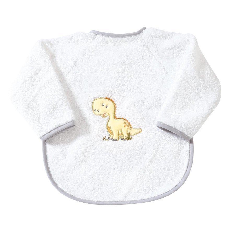Easy Baby Hihallinen Ruokalappu Dino Valkoinen