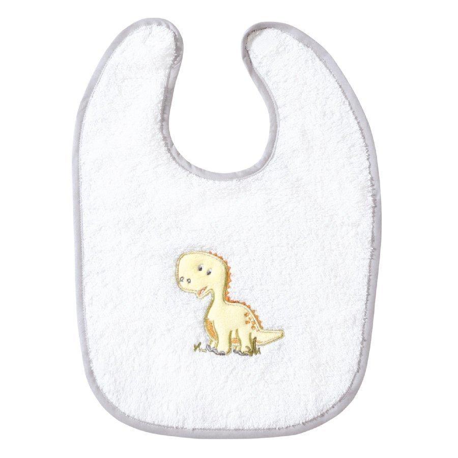Easy Baby Ruokalappu Dino Valkoinen
