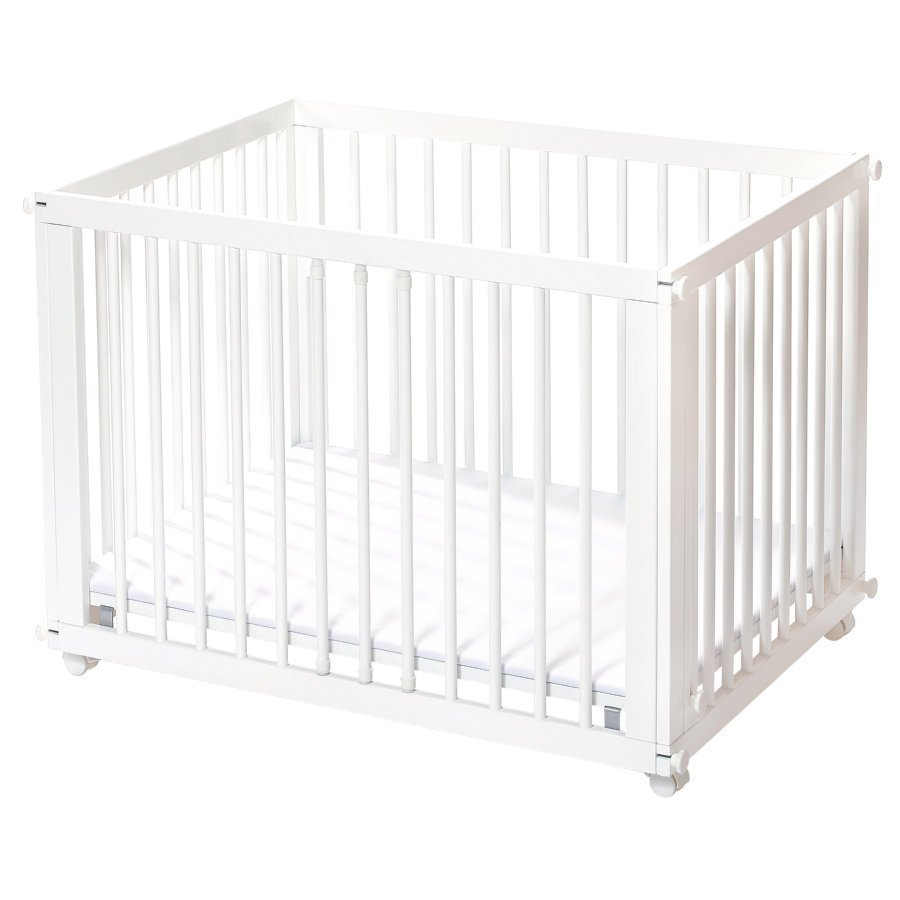 Easy Baby Sleep & Play Sänky Ja Leikkikehä + Patja Valkoinen