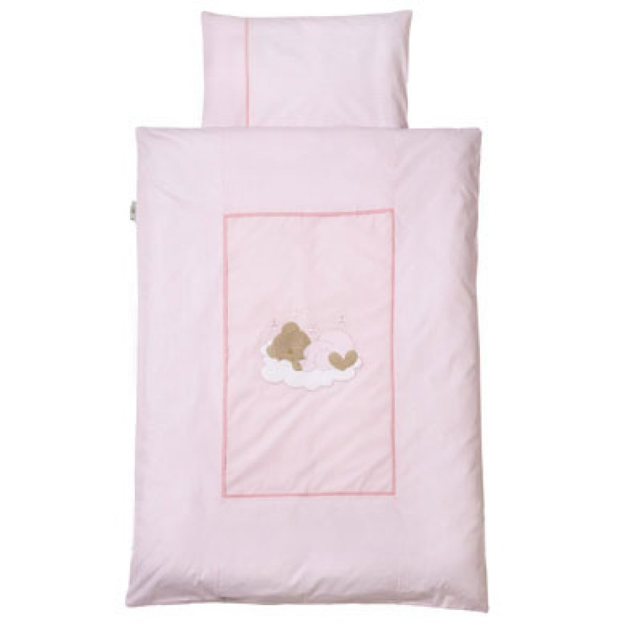 Easy Baby Vuodevaatteet Sleeping Bear Vaaleainpunainen 410 82