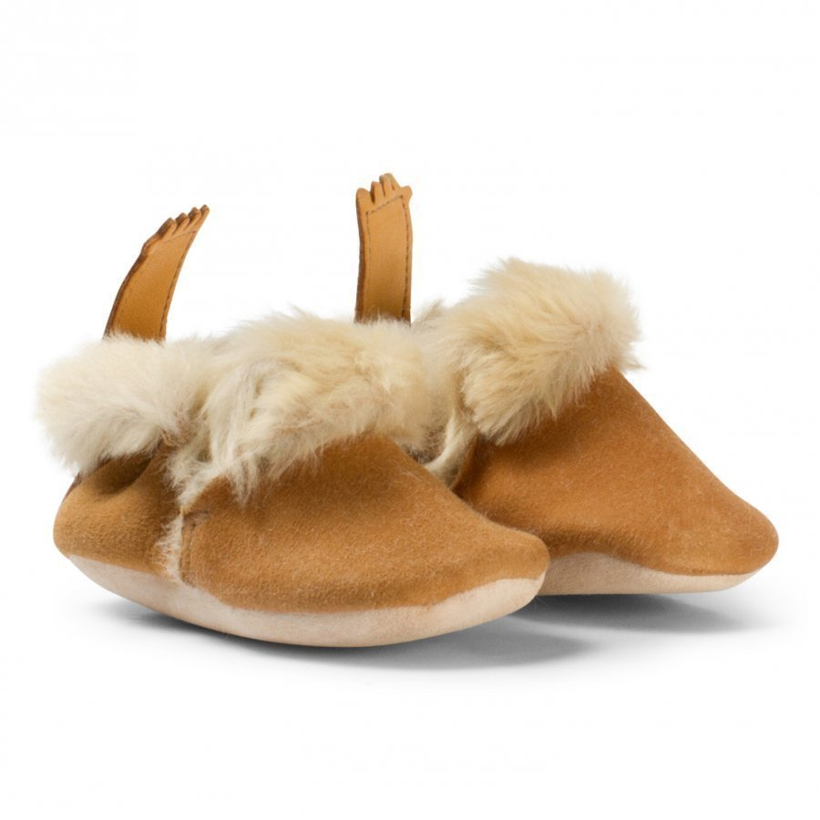 Easy Peasy Beige Oxi Minion Shearling Crib Booties Vauvan Kengät