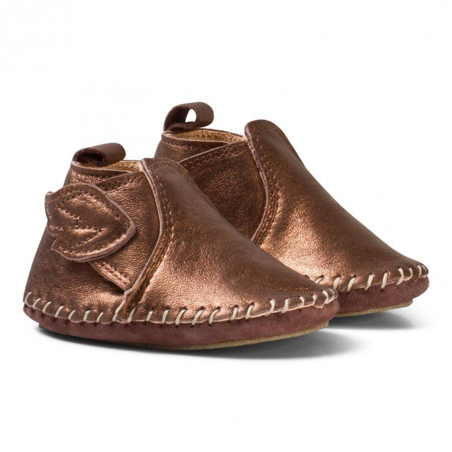 Easy Peasy Bronze Bomok Velcro Winged Crib Shoes With Anti Slip Sole Vauvan Kengät