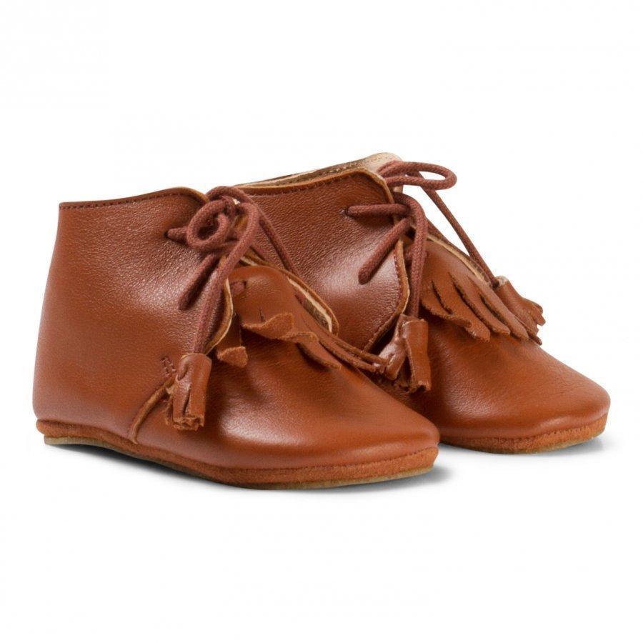 Easy Peasy Brown Fringe Mexip Shoes Anti Slip Sole Vauvan Kengät