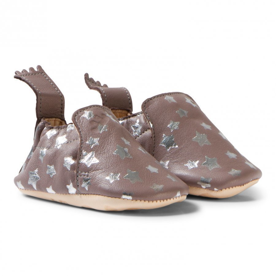 Easy Peasy Grey And Silver Star Print Blumoo Nuit Crib Shoes Vauvan Kengät