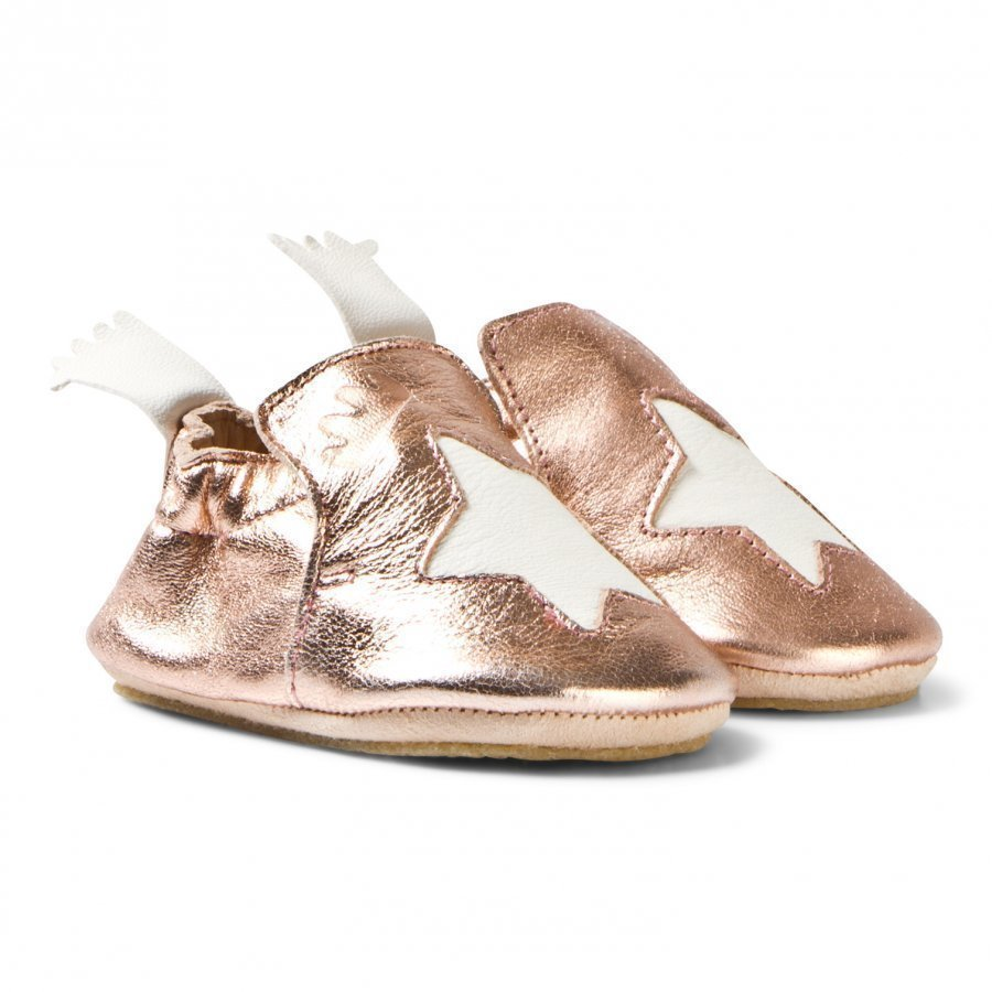 Easy Peasy Metallic Pink Blublu Slipper Shoes Slip On Kengät