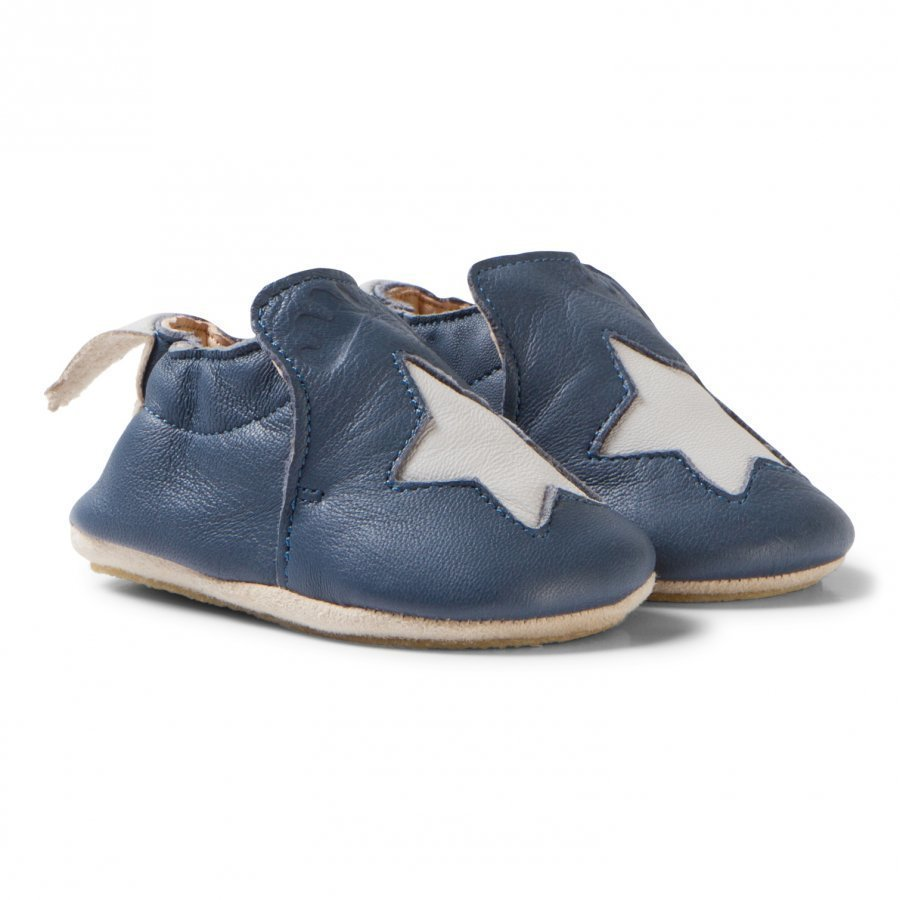 Easy Peasy Navy Star Leather Blublu Anti Slip Shoes Vauvan Kengät