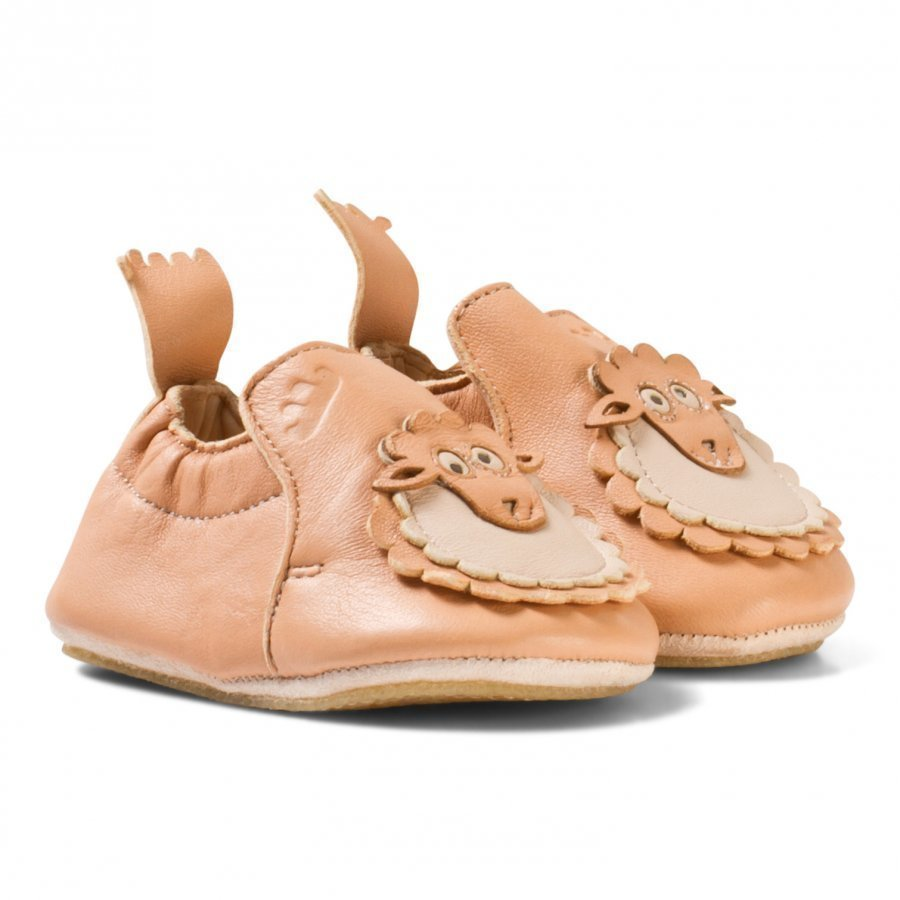 Easy Peasy Pink Leather Sheep Blublu Shoes With Anti Slip Sole Vauvan Kengät