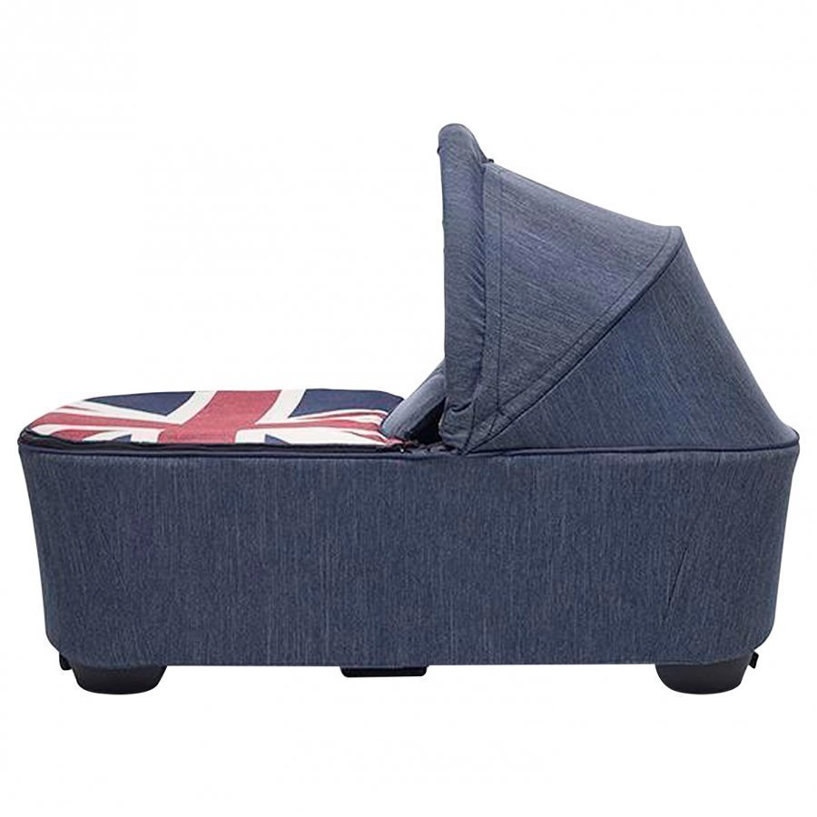 Easywalker Mini Carrycot Union Jack Denim Vaunukoppa