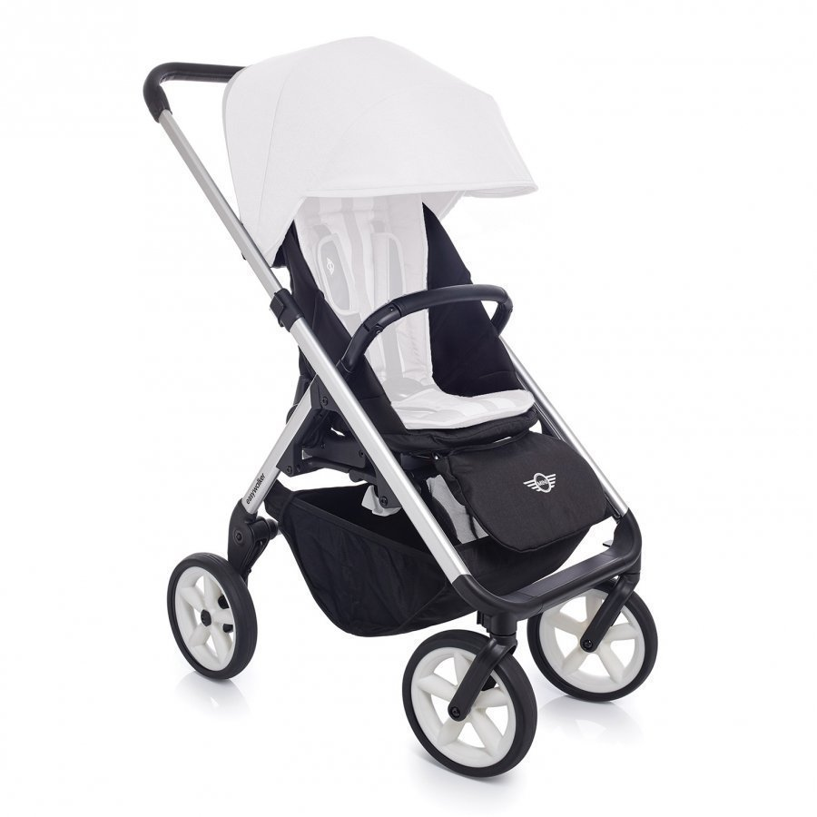 Easywalker Mini Stroller Silver With White Wheels Runko