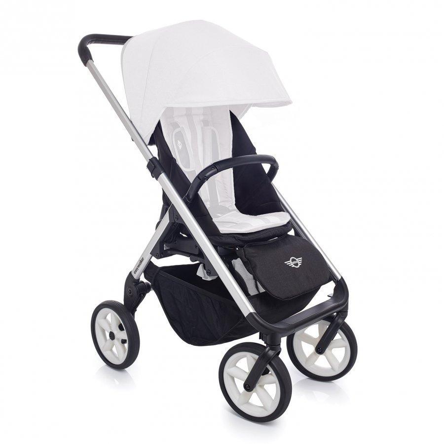Easywalker Mini Stroller Silver With White Wheels Runko