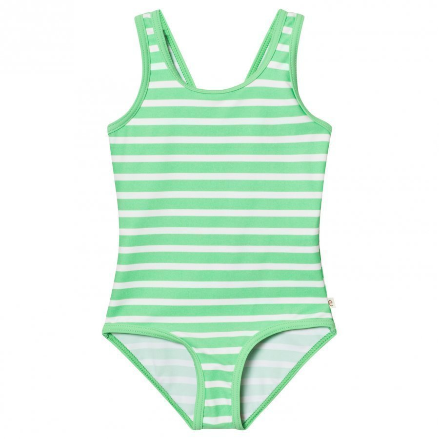 Ebbe Kids Agnes Swimsuit Crisp Green Stripes Uimapuku