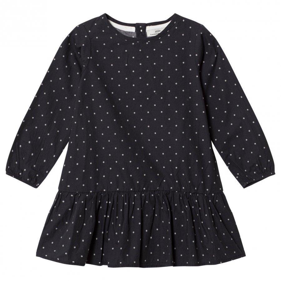 Ebbe Kids Aivory Dress Ebbe Dots On Black Mekko