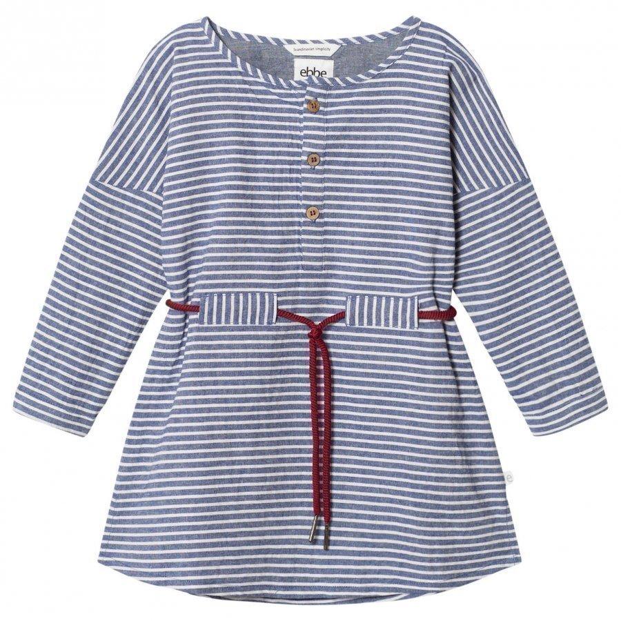 Ebbe Kids Alexa Dress Denim Blue Stripe Mekko