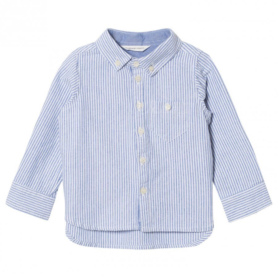 Ebbe Kids Alf Shirt Oxford Blue Stripe Kauluspaita