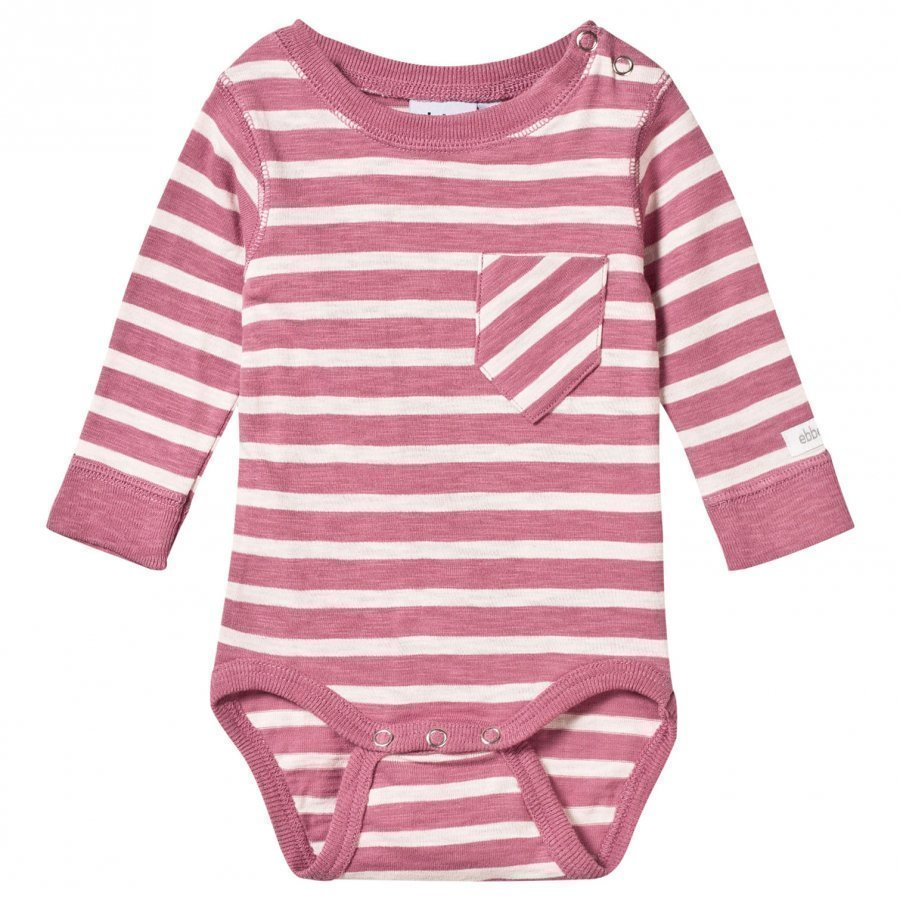 Ebbe Kids Almond Baby Body Dusty Pink/Off White Stripe Body