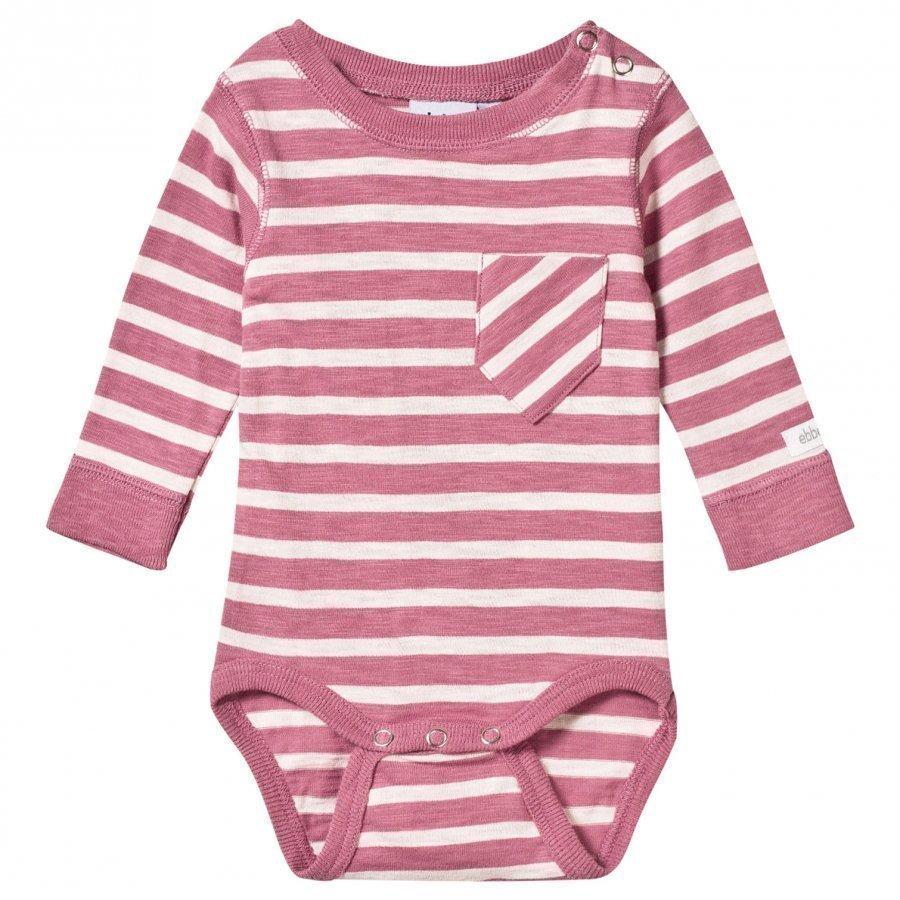 Ebbe Kids Almond Baby Body Dusty Pink/Off White Stripe Body