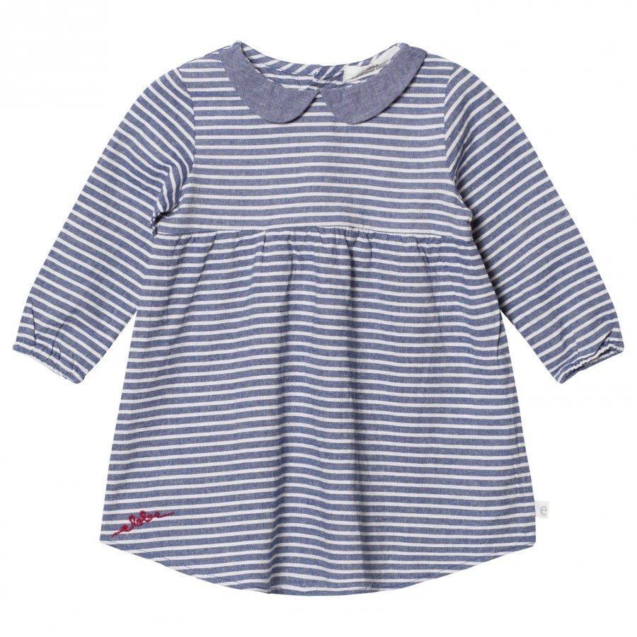 Ebbe Kids Alva Dress Denim Blue Stripe Mekko