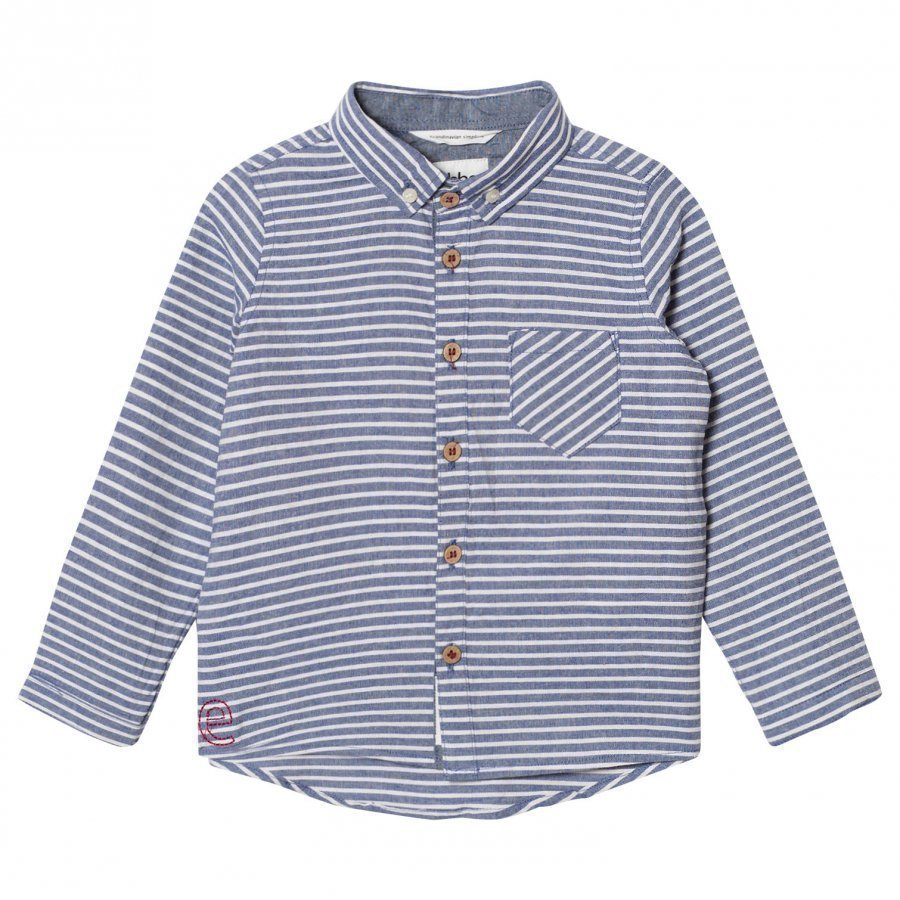 Ebbe Kids Andreas Shirt Denim Blue Stripe Kauluspaita