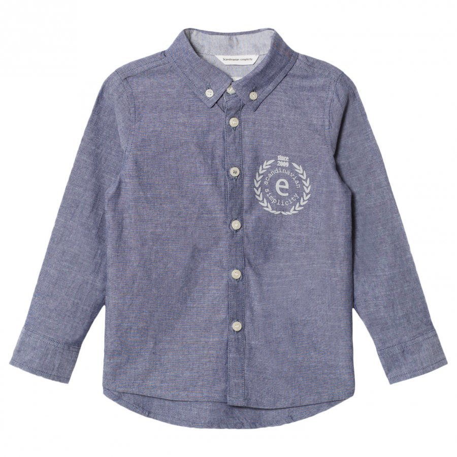 Ebbe Kids Andreas Shirt Denim Chambray Kauluspaita