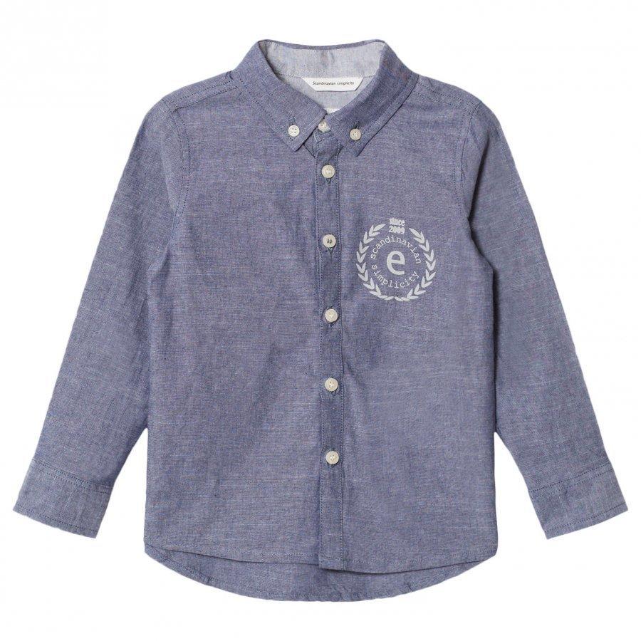 Ebbe Kids Andreas Shirt Denim Chambray Kauluspaita
