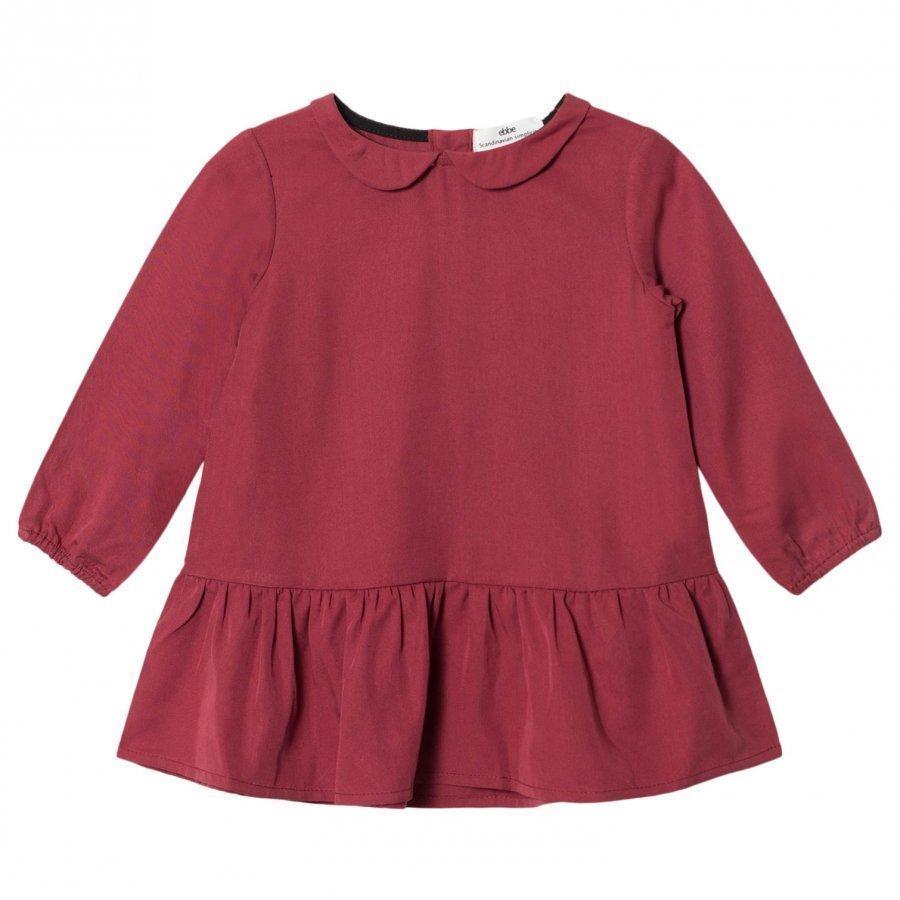 Ebbe Kids Arta Dress Dark Red Chili Mekko
