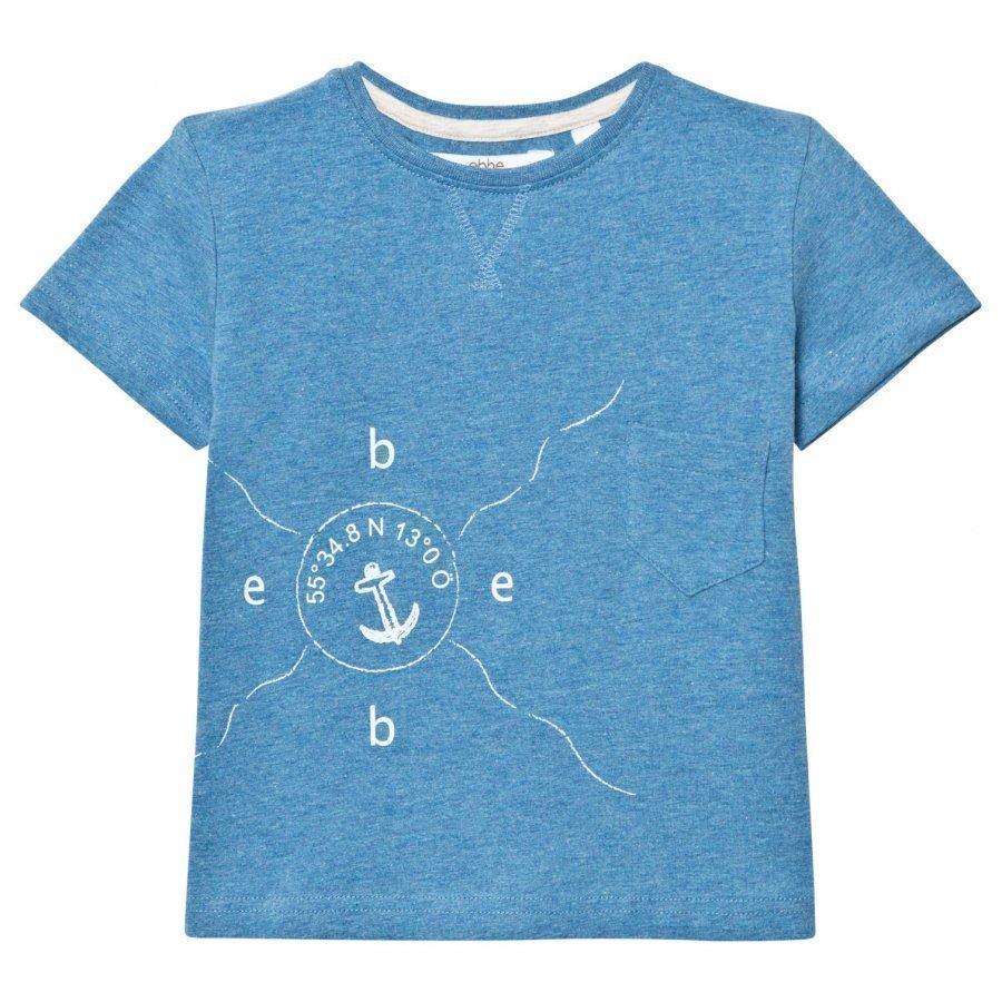 Ebbe Kids Barnie T-Shirt Blue Denim Melange T-Paita