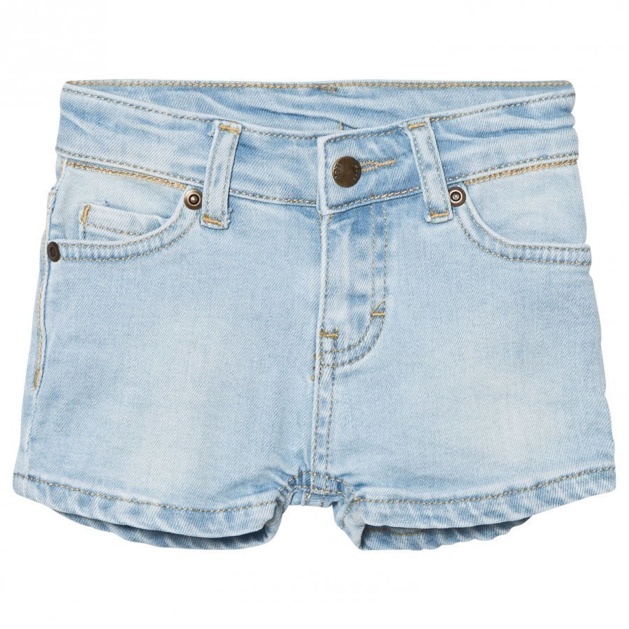 Ebbe Kids Benita Denim Shorts Light Blue Denim Stretch Farkkushortsit