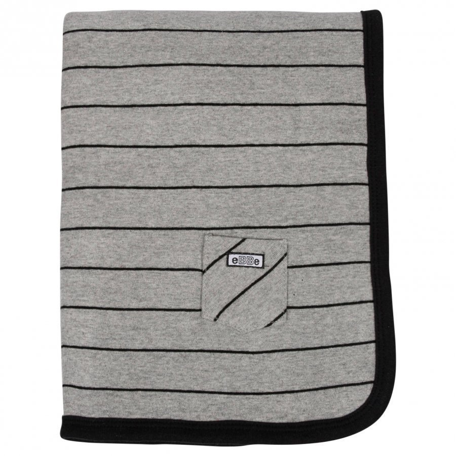 Ebbe Kids Blanket Etna Grey/Black Huopa