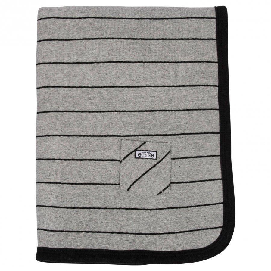 Ebbe Kids Blanket Etna Grey/Black Huopa