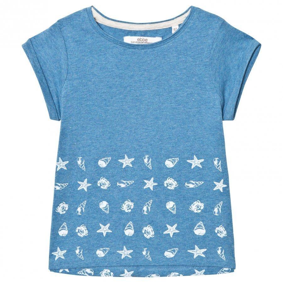 Ebbe Kids Bonnie Tee Blue Denim Melange T-Paita