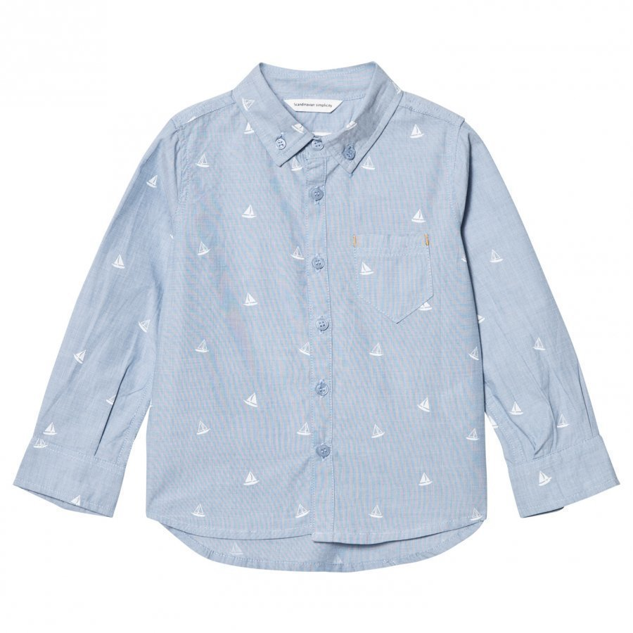 Ebbe Kids Cabe Button Down Shirt Tilting Boats Kauluspaita