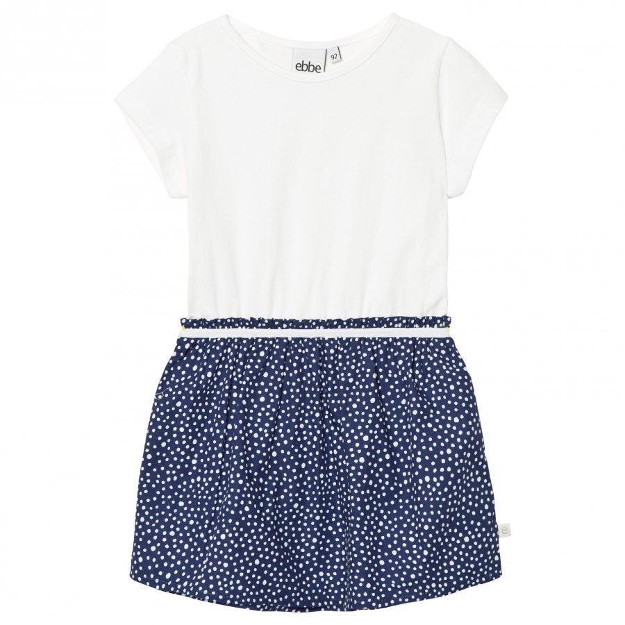 Ebbe Kids Caja T-Shirt Dress Dotted Midnight Blue Mekko