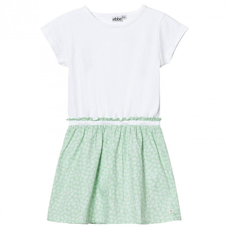 Ebbe Kids Cazine T-Shirt Dress Green Feathers Mekko