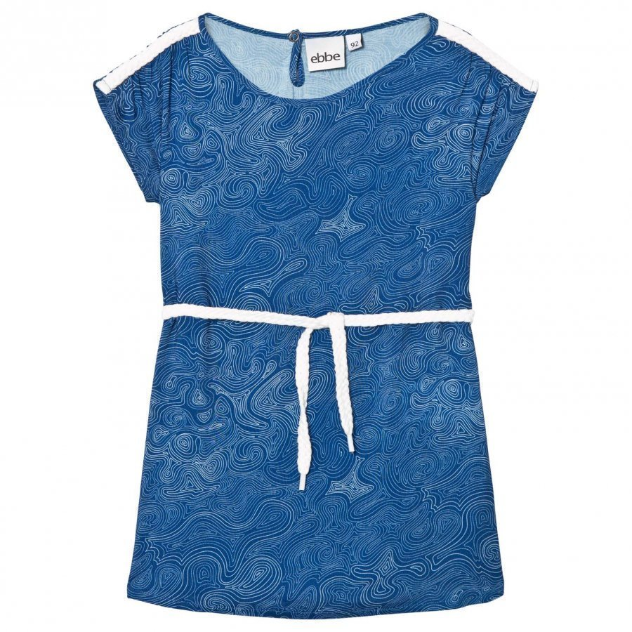 Ebbe Kids Clarissa Dress Blue Ocean Swirls Mekko