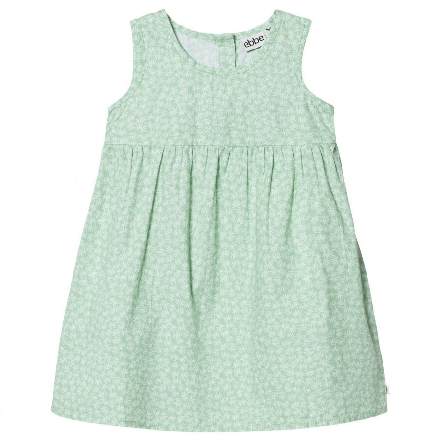 Ebbe Kids Claudia Dress Green Feathers Mekko