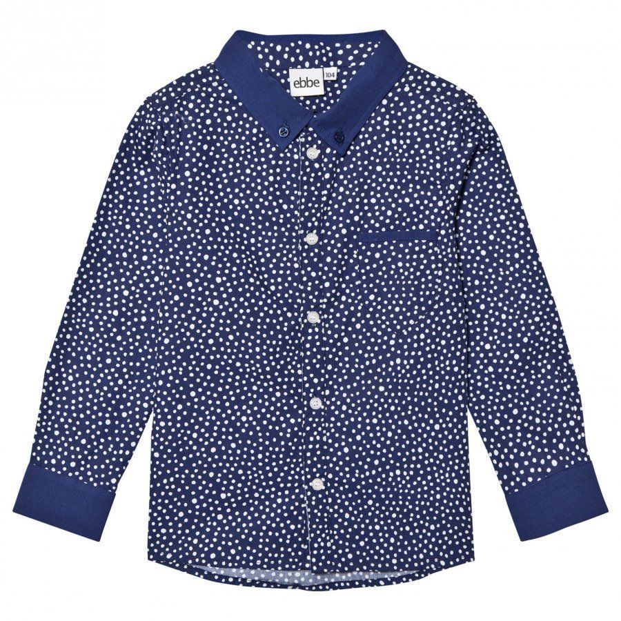 Ebbe Kids Costas Shirt Dotted Midnight Blue Kauluspaita