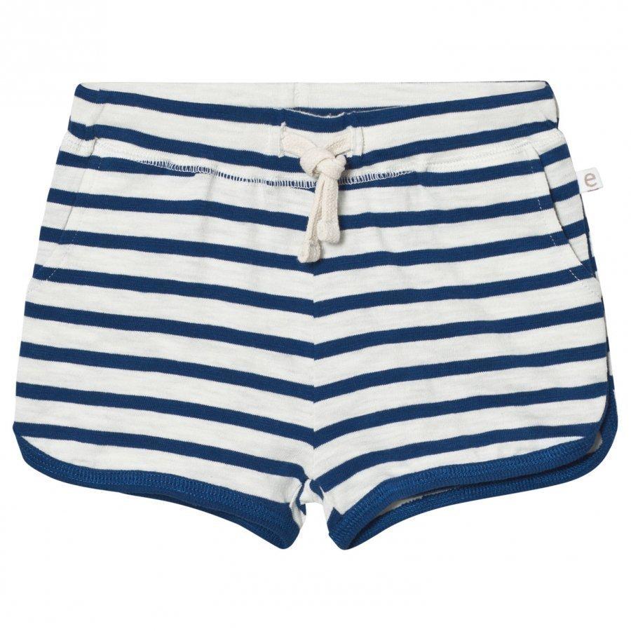 Ebbe Kids Daisy Shorts Off White/Seaside Blue Stripe Oloasun Shortsit