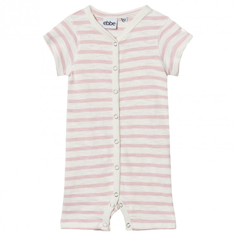 Ebbe Kids Dallas Romper Off White/Peachy Pink Stripe Romper Puku
