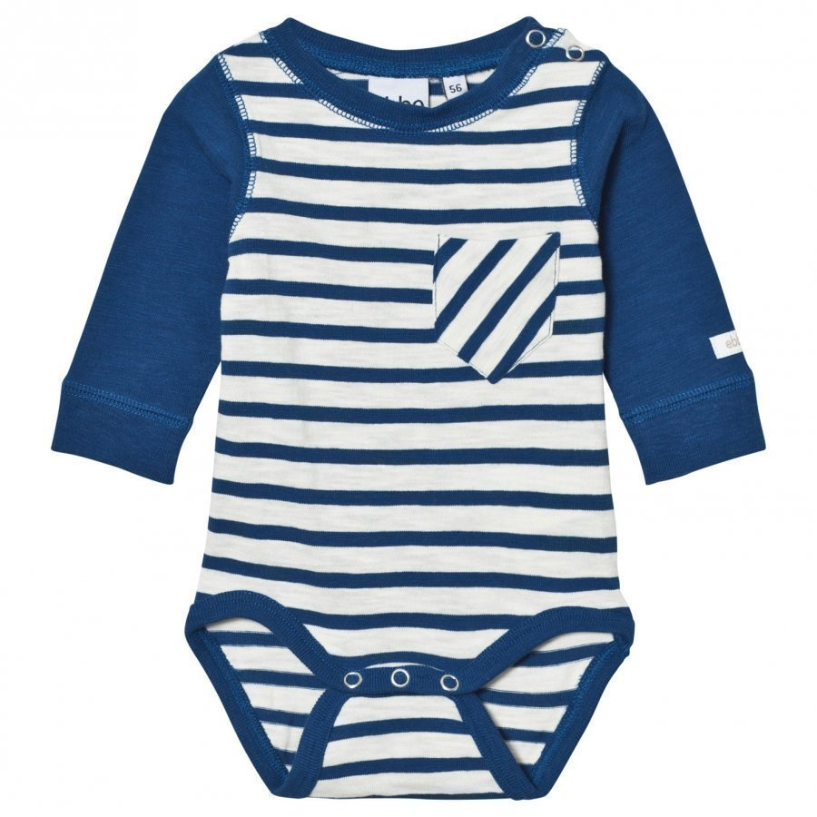 Ebbe Kids Deli Baby Body Off White/Seaside Blue Stripe Body